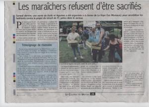 Flins sans F1 : les Maraichers refusent d'être sacrifiés
